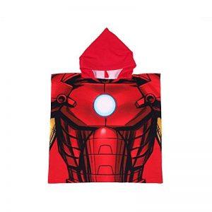 PONCHO A CAPUCHE-CAPE DE BAIN-DRAP DE BAIN-MARVEL AVENGERS IRON MAN-55X110 CM de la marque 1-Avengers image 0 produit