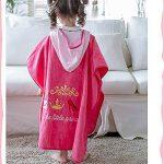 Poncho Enfants Change Princesse rose peignoir coton bio enfants enfants bébé combinaison de bain maillot de bain serviette à langer serviette de bain de plage serviette de bain à capuchon de plage pou de la marque Bangxiu image 4 produit