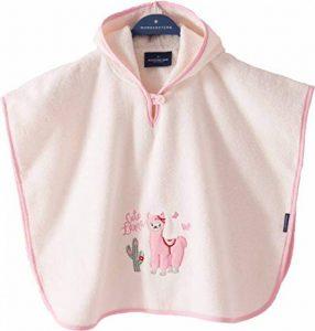 Poncho pour bébé et Enfant de 1-3 Ans 100% Coton Tissue éponge Taille Uniforme Serviette de Bain avec Capuche Motif Lama de la marque Morgenstern image 0 produit