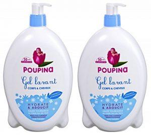 Poupina - Hygiène et Soin Bébé - Gel Lavant Corps & Cheveux - 750 ml - Lot de 2 de la marque Poupina image 0 produit