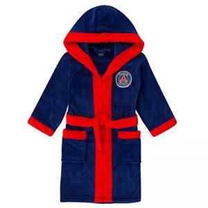 PSG officiel - Robe de chambre à capuche thème football - polaire - garçon de la marque Paris+Saint-Germain+FC image 0 produit