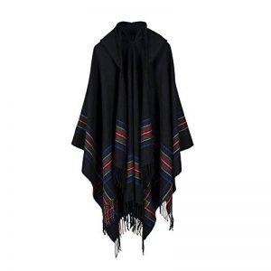 Pull Femme A Capuche Manteaux en Tricot De Poncho en Cachemire Hiver Chaud Femmes à Franges Sweater de la marque Susenstone image 0 produit