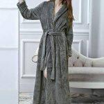 PUTUO Microfibre Peignoir de Bain pour Femme Robe de Chambre Longue en Eponge, Femme Peignoir Longue Doux Chaud Douillet Hiver de la marque PUTUO image 2 produit