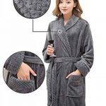PUTUO Peignoir de Bain Femme Peignoir en Eponge Microfibre, Femme Robe de Chambre Longue Hiver Chaud de la marque PUTUO image 3 produit