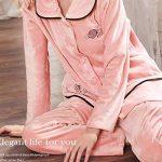 Pyjama Femme En Velours Corail À Manches Longues, Costume Ample Et Ample Automne/Hiver,Comme montré,XXXL de la marque WCZ image 2 produit