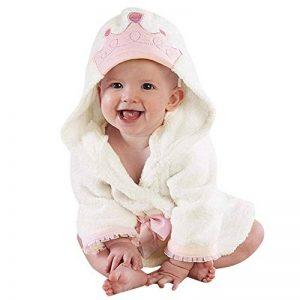 Pyjamas Enfant À Capuche Serviette de Bain, Dessin Animé Couleur Unie Hooded Manches Longues en Coton Mignon Sleepwear de la marque KUKICAT image 0 produit