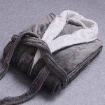 Quge Peignoir Femme Robe de Chambre Polaire Homme Chaud Longue Pyjama Bathrobe de la marque Quge image 1 produit