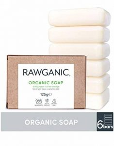 RAWGANIC, Savon bio hydratant Mains et corps, Genévrier et orange amère, doux, naturel et Vegan (Lot de 6 savons) de la marque Rawganic image 0 produit