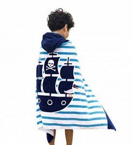 Repuhand 100% Coton Serviette Enfants Poncho à Capuche pour Les Garçons Et Les Ideal pour des Vacances sur la Plage et de la Piscine de la marque Repuhand image 0 produit