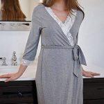 ☯ Robe d'allaitement pour Pyjama Robes de Chambre de Grossesse Chemise de Nuit Peignoirs de Bain de la marque iYmitz image 4 produit