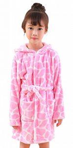 Robe de Chambre en Flanelle Bébé Garçon Fille Automne Hiver Peignoir de Bain avec Capuche Animal Vêtement de Nuit Enfant Cartoon Mignon Pyjama 2-5 ans 6 Styles de la marque KRAFBEAN image 0 produit