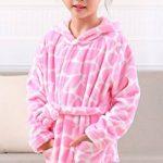 Robe de Chambre en Flanelle Bébé Garçon Fille Automne Hiver Peignoir de Bain avec Capuche Animal Vêtement de Nuit Enfant Cartoon Mignon Pyjama 2-5 ans 6 Styles de la marque KRAFBEAN image 2 produit
