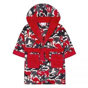 Robe de Chambre en Molleton imprimée Camouflage Dinosaure pour Enfant de la marque Minikidz image 0 produit