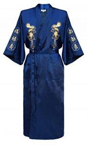 Robe de Chambre Kimono Japonais Homme Peignoir Yukata Satin de la marque Laciteinterdite image 0 produit