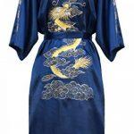 Robe de Chambre Kimono Japonais Homme Peignoir Yukata Satin de la marque Laciteinterdite image 1 produit