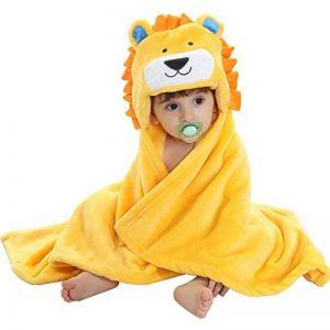 Robe de Chambre Polaire Enfant Peignoir Sortie de Bain à Capuche Animaux pour Bébé Cape de Bain Flanelle Microfibre de la marque Feelme image 0 produit