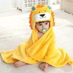 Robe de Chambre Polaire Enfant Peignoir Sortie de Bain à Capuche Animaux pour Bébé Cape de Bain Flanelle Microfibre de la marque Feelme image 1 produit