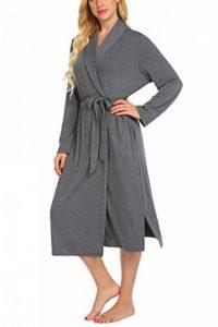 Robes de Chambre et Kimonos à Manches Longues avec Deux Poches et Une Ceinture Robe Dentelle Gris S de la marque MAXMODA image 0 produit
