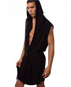 Robes Peignoir Hommes à Capuche Bain Plus Size Pyjamas Sexy Grande Taille de la marque GUOCU image 0 produit