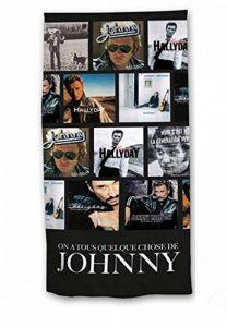 Rockeur Serviette de Plage Johnny Hallyday Drap de Bain de la marque Rockeur image 0 produit