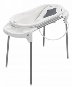 Rotho Babydesign Set de Bain avec Baignoire et Support, Idéal pour 2 Enfants, 0-12 Mois, Blanc, TOP Xtra, 21041000101 de la marque Rothobabydesign image 0 produit