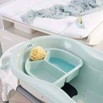 Rotho Babydesign TOP Baignoire avec Tapis Antidérapant et Bouchon de Vidange, 0-12 mois, TOP, Swedish Green (Vert Menthe), 200010266 de la marque Rothobabydesign image 4 produit