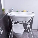 Rotho Babydesign TOP Baignoire avec Tapis Antidérapant et Bouchon de Vidange, 0-12 mois, TOP, Tender Rosé Pearl (Rose), 200010208 de la marque Rothobabydesign image 3 produit