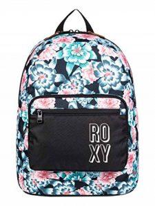 Roxy Happy at Home-Sac à Dos pour Fille 8-16 Ans Moyen Format, Anthracite S Crystal Flower, FR Fabricant : Taille Unique de la marque Roxy image 0 produit