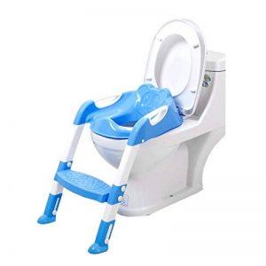 Ruikey Siège de Toilette Enfant,Pliable et Anti-dérapant,Reducteur de Toilette avec Marche pour Garçons et Filles - Bleu de la marque Ruikey image 0 produit