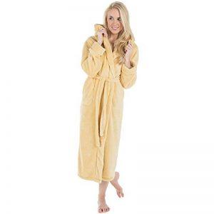 Samos Peignoir De Bain Capuche De Couleur Unie Longue Poches Latérales Femme Homme Unisexe Sherpa Polaire XS-XXXL de la marque CelinaTex image 0 produit