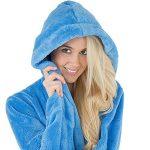Samos Peignoir De Bain Capuche De Couleur Unie Longue Poches Latérales Femme Homme Unisexe Sherpa Polaire XS-XXXL de la marque CelinaTex image 1 produit