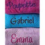 serviette bébé avec prénom TOP 1 image 1 produit