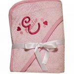Serviette bébé Sortie de bain à capuche Rose ou bleu brodé personnalisé avec le prénom Serviette bébé cadeau baptême, baby shower, cadeau naissance de la marque N/D image 2 produit