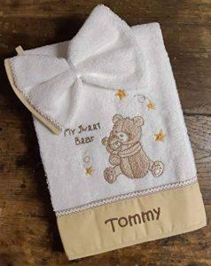 serviette brodée personnalisée bébé TOP 14 image 0 produit
