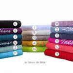 serviette brodée personnalisée bébé TOP 9 image 1 produit