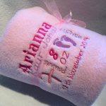 serviette brodée prénom bébé TOP 1 image 1 produit