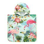 Serviette à capuche Peignoir de bain coton bio enfants bébé combinaison de bain maillot de bain serviette à langer robe de plage robe de plage bain à capuchon ( Couleur : Vert , Taille : M(90-120cm) ) de la marque AUMING image 2 produit