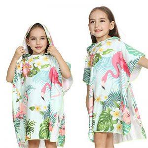 Serviette à capuche Peignoir de bain coton bio enfants bébé combinaison de bain maillot de bain serviette à langer robe de plage robe de plage bain à capuchon ( Couleur : Vert , Taille : M(90-120cm) ) de la marque AUMING image 0 produit