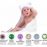 Serviette à capuchon pour bébé, Gejo Serviette de Bain Bébé - Serviette Fibre de Bambou pour les Enfants - 100 cm x 70 cm - Nouveau-nés ou Nourrissons Garçons et Filles avec gant de toilette inclus de la marque GEJO image 1 produit