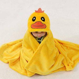 serviette de bain Bébé 100% Bride Fluff Capuchon Cape Enfants Garçon Fille Bande Dessinée Canard Bain Cape Embrasse Couverture Jaune 0-9 Ans de la marque serviette de bain image 0 produit