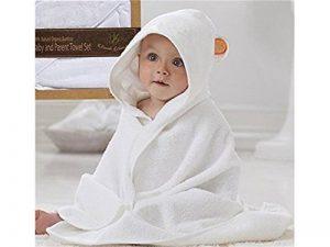 Serviette de bain bébé Cape de bain en bambou pour bébé serviette de bain-grande taille 90x90cm (blanc) de la marque Blue Bridge image 0 produit