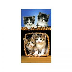 serviette de bain chat TOP 1 image 0 produit