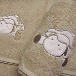Serviette de bain enfant MOUTON 70x140cm personnalisée prénom, cadeau naissance, bébé de la marque N/D image 1 produit