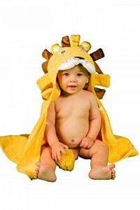 Serviette de Bain Extra-Douce Enfant Bébé Garçon de 0 à 2 ANS Peignoir Enfant Tridimensionnel LION Super-Absorbante à DOUBLE ÉPAISSEUR Douche Sortie Bain Bebé Piscine Poncho de Bain 100% COTON BIO de la marque alenyk image 0 produit