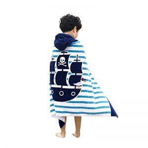 Serviette de bain pour enfants à capuche par Amkun - Grande Poncho de bain de plage avec motif crocodile pour filles et garçons de 4 à 14ans de la marque Amkun image 0 produit