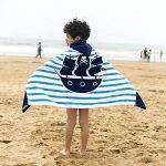 Serviette de bain pour enfants à capuche par Amkun - Grande Poncho de bain de plage avec motif crocodile pour filles et garçons de 4 à 14ans de la marque Amkun image 2 produit