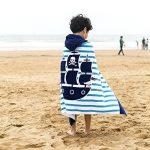 Serviette de bain pour enfants à capuche par Amkun - Grande Poncho de bain de plage avec motif crocodile pour filles et garçons de 4 à 14ans de la marque Amkun image 1 produit