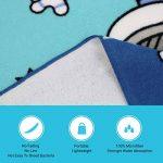 Serviette Enfant Capuche Microfibre Plage Age 1-6 Ans Super-Absorbant Serviette Bain Ultrafines Fiber Bébé Douces pour Plage, Douche, Piscine, Voyage, Camping et Pique-nique (Astronaute, 60 x 61 cm) de la marque MCGMITT image 4 produit