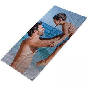 Serviette personnalisée coton avec photo,dessin,texte.Quelques tailles.80x160cm de la marque Lolapix image 0 produit