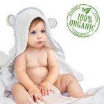 Serviette pour bébé avec capuche en bambou bio - Serviettes de bain douces avec capuche et oreilles pour bébés, Tout-petits - Hypoallergénique, Grande serviette. Cadeau idéal pour une naissance de la marque San Francisco Baby image 1 produit